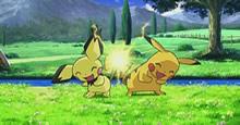 Bild: Zackenohr-Pichu und Pikachu im 12. Film