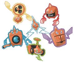 Bild: Rotom und seine fünf neuen Formen