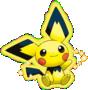 Pikachu-farbenes Pichu