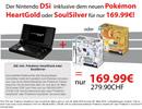 GameStop verkauft für einige Tage HG oder SS zusammen mit einem DSi für 170 Euro