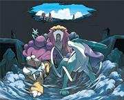 Artwork: Sichtung von Raikou, Entei und Suicune