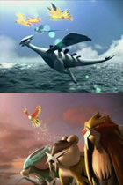 Bild: Zwei Ausschnitte aus den Werbespots