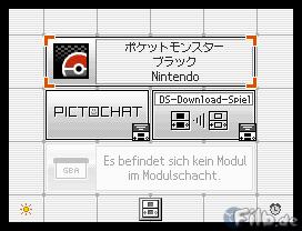 Pocket Monsters Black auf einem deutschen DS